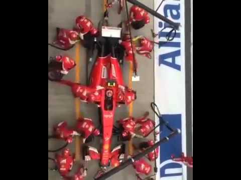Замена колёс на Формула 1 за 2 секунды