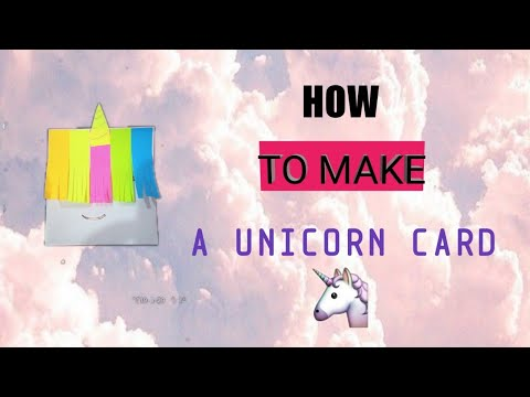DIY Unicorn card | using only sticky notes and paper