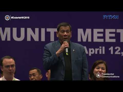 Meeting with the Filipino Community 4/12/2018