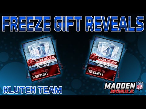 Madden Mobile 16: ULTIMATE FREEZE GIFT REVEALS! - YouTube