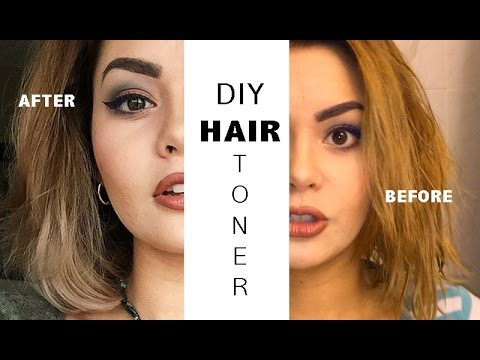 Diy Hair Toner For Yellow Hair Youtube