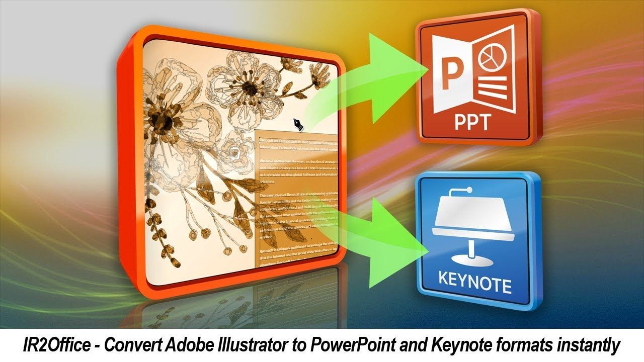 How to convert Illustrator to PowerPoint and Keynote, Illustrator