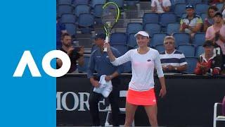 Kirsten Flipkens v Aliaksandra Sasnovich match highlights (1R) | Australian Open 2019
