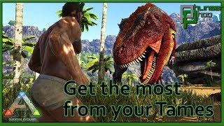 Ark Basics - Taming Effectiveness - Guide to tame higher level Dinosaurs!