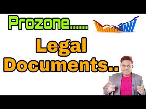 Prozone Legal documents.....