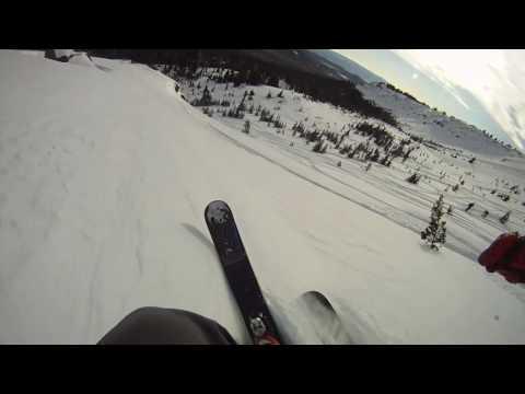 GoPro HD HERO camera: Powder Skiing with Chesty