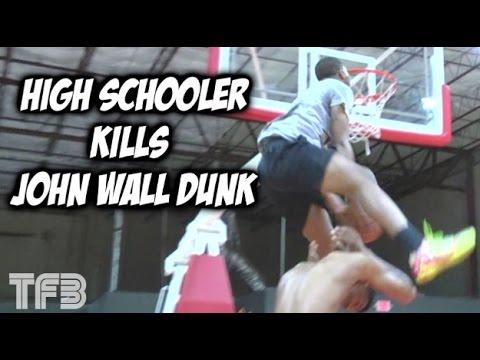 "6'4"" 11th Grader Mark Vital KILLS John Wall Dunk! #SCTop10"