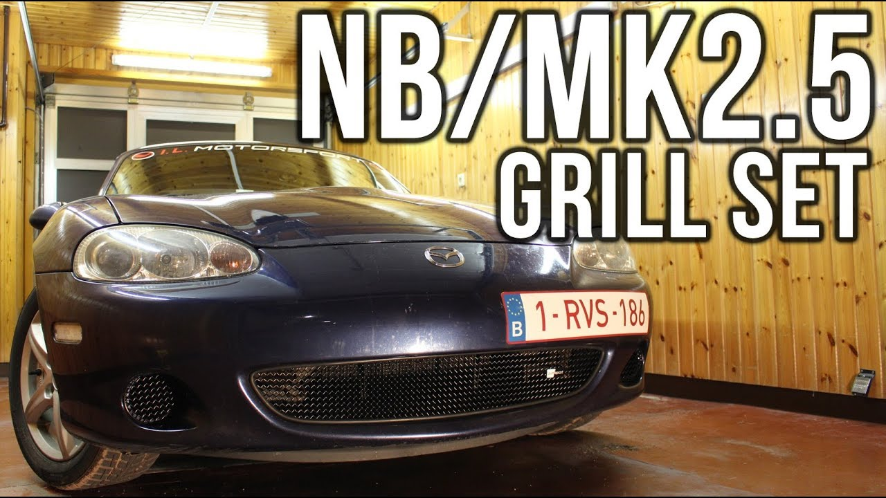 zunsport mx5 nb mk2 5 grill set installation miata in action episode 2 youtube. Black Bedroom Furniture Sets. Home Design Ideas