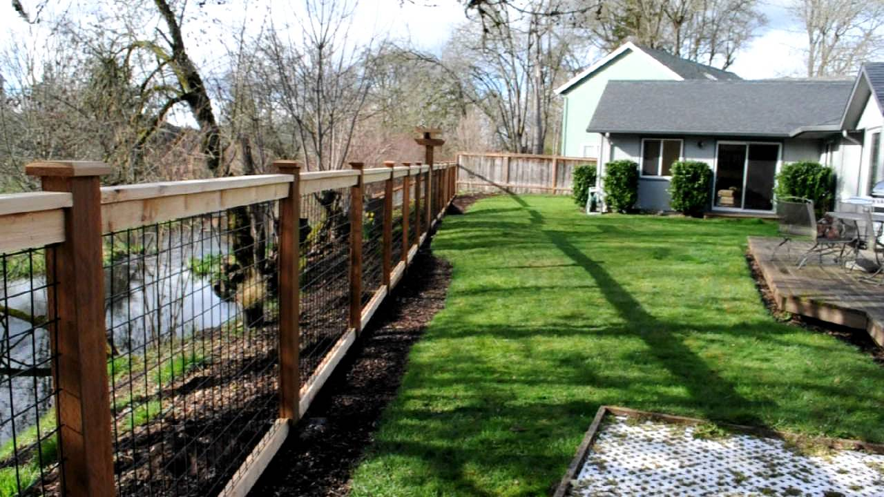 Cedar & Black Bull Panel Fence - YouTube