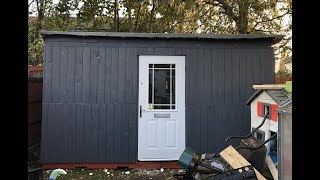 How to build a shed for free from pallets!