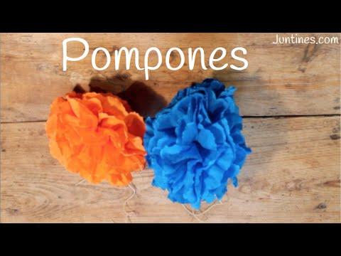 Tutorial para aprender a hacer pompones de papel de seda