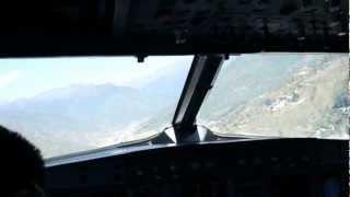 Dangerous take off from Paro Airport, Bhutan, Drukair, AIRBUS 319, Full procedure