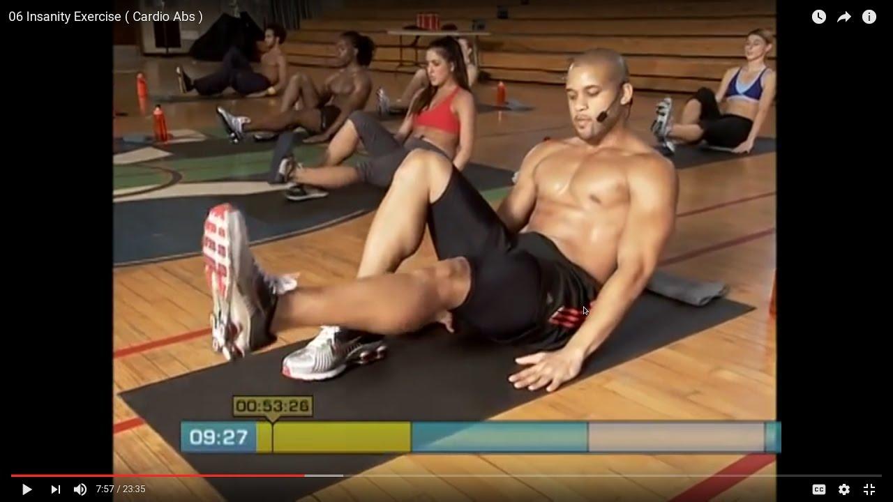 06 Insanity Exercise ( Cardio Abs  )