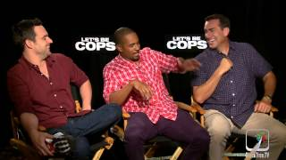 Let's Be Cops interview w/ Damon Wayans Jr., Rob Riggle and Jake Johnson