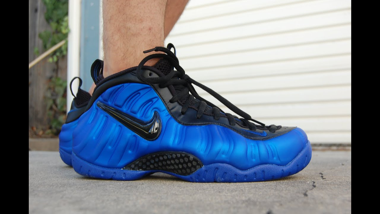 newest 9b94c 45afd Nike Air Foamposite Pro Hyper Cobalt Ben Gordon On Feet