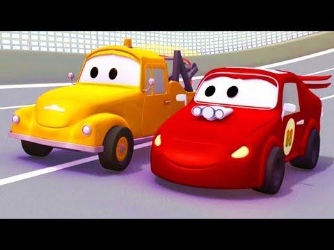Tom la Grúa con sus amigos los Coches de Carreras y más en Auto City | Dibujos animados para niños