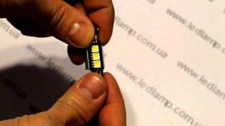 Светодиодная автолампа освещения салона с обманкой T10x36 3 SMD-EF(Автомобильная светодиодная софитная лампа типа c5w. Данная светодиодная лампа подходит для любого автомоби..., 2010-11-10T18:12:17.000Z)