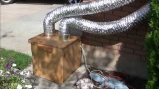 Diy Garage Exhaust Fan And Air Filter, For Woodworking And Finishing