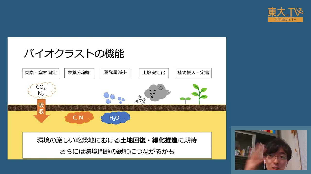 木村圭一「乾燥地に分布するバイオクラストとは?」ー第15回東大院生・若手教員によるミニレクチャプログラム