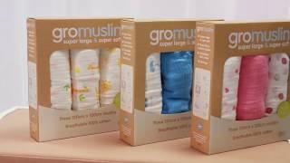 GRO Company Набор муслиновых пеленок GroMuslin