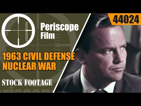 1963 CIVIL DEFENSE  NUCLEAR WAR & FALLOUT SHELTER SURVIVAL FILM  44024