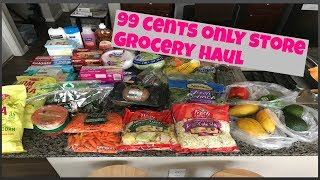 99 cents  only store grocery haul