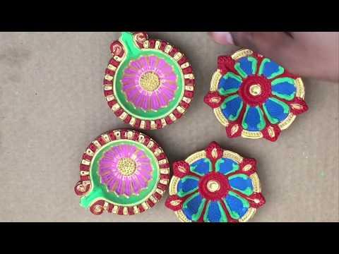 Diwali Lamp decoration,Diya painting ideas,DIY,Diwali DIY ideas