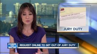 Get out of jury duty through online form