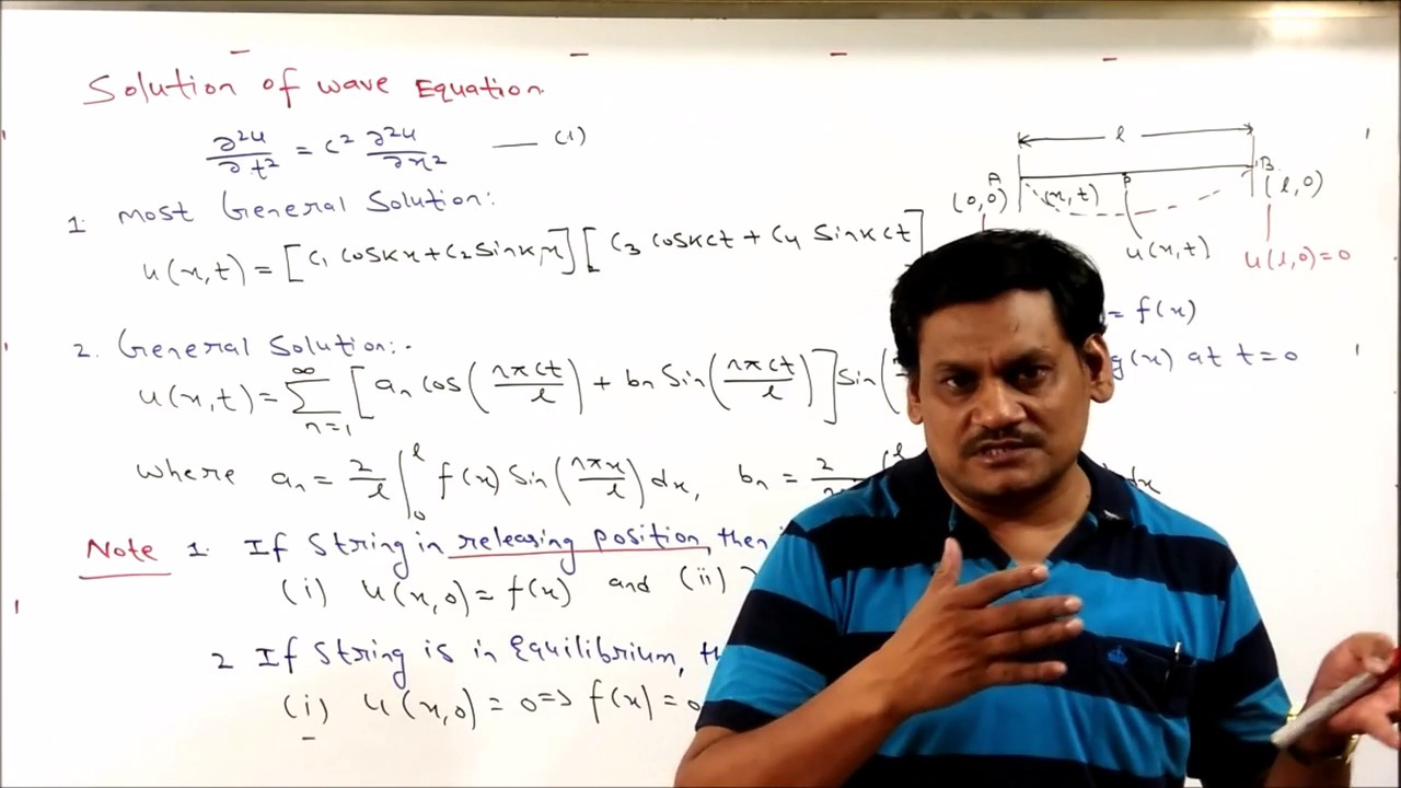 Lecture-18 Partial Differential Equation-One Dimensional Wave Equation in  Hindi