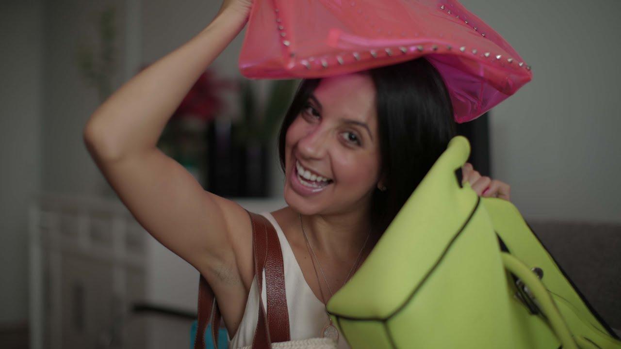 83cadaae886bd Modelos de bolsas para usar na praia e piscina por Hêlo - YouTube