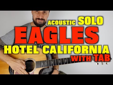 Hotel California Solo The Eagles Acoustic Guitar with TAB
