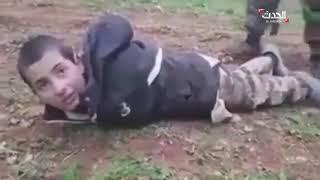 طفل داعشي يناشد الجيش الحر عدم قتله