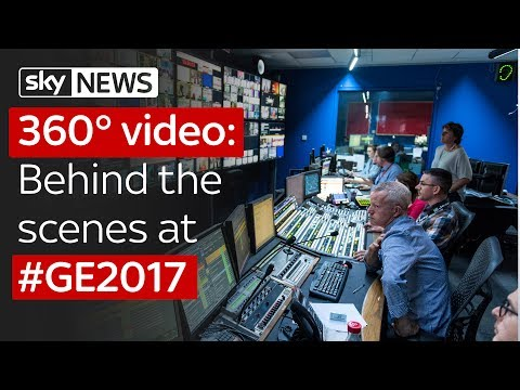 Sky News 360° video: Behind the scenes at...