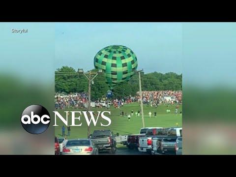 Hot air balloon plows into spectators in Missouri