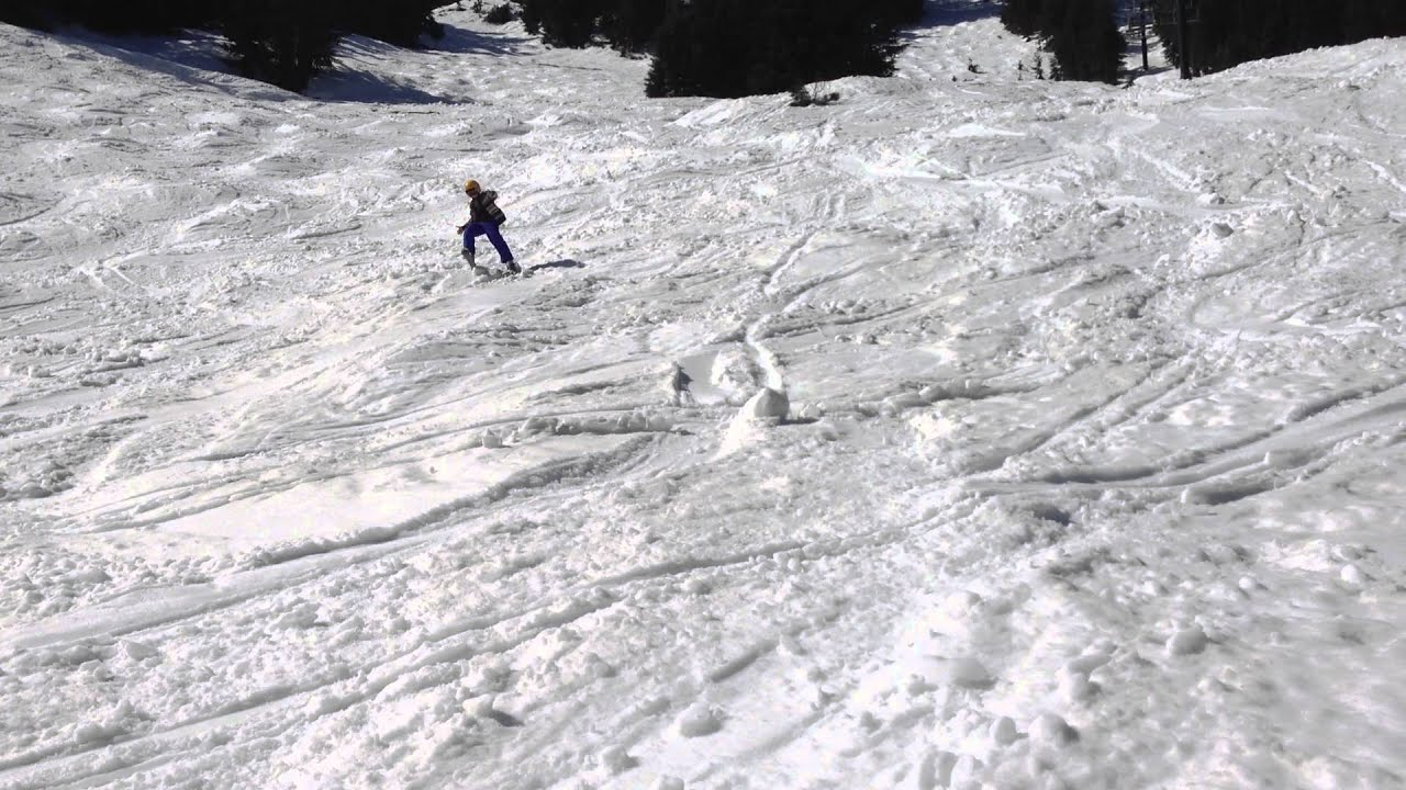 Matthew Skis Down Black Diamond Hill
