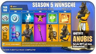 🎖️😱 SEASON 5 SKINS AND ITEMS WISHES | Fortnite Season 5 Battle Pass 5 English