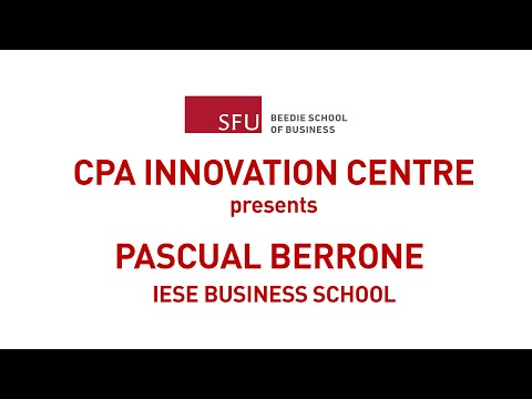 "Pascual Berrone: Necessity as the mother of ""Green"" Innovation"