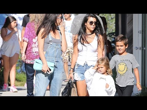 Kourtney Kardashian And Her Little Ones Hit Malibu