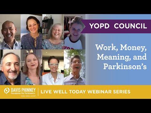 YOPD Council Series – Work, Money, Meaning, and Parkinson's