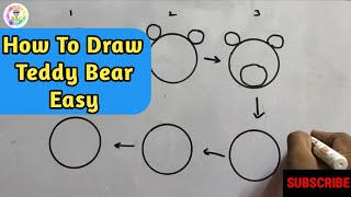 How to draw a teddy bear 🐻 | Animals drawings for beginners #RaviArtChallenge screenshot 5