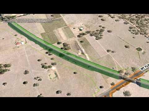 Inland Rail Calvert to Kagaru project alignment flythrough
