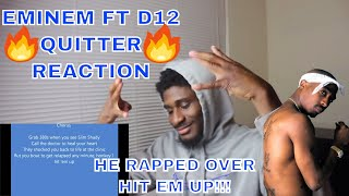 QUITTER - EMINEM FT D12 (EVERLAST DISS)   EMINEM USED THE HIT EM UP BEAT!!!   REACTION