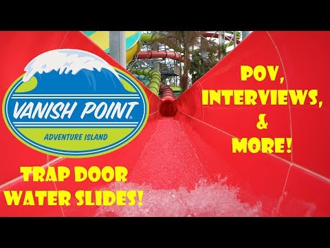 Vanish Point TRAP DOOR SLIDES Adventure Island Pov, Interviews, & More!