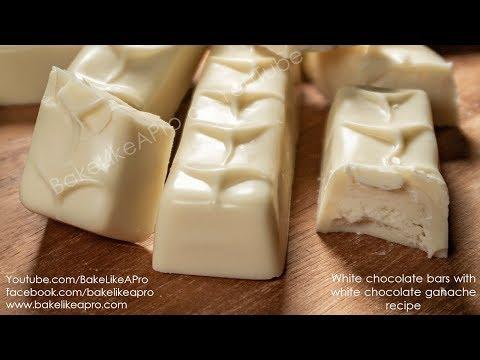 White Chocolate Bars Filled With White Chocolate Ganache Tutorial