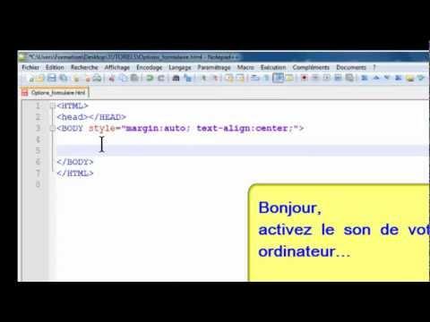 HTML : Cases à Cocher Et Boutons Radio