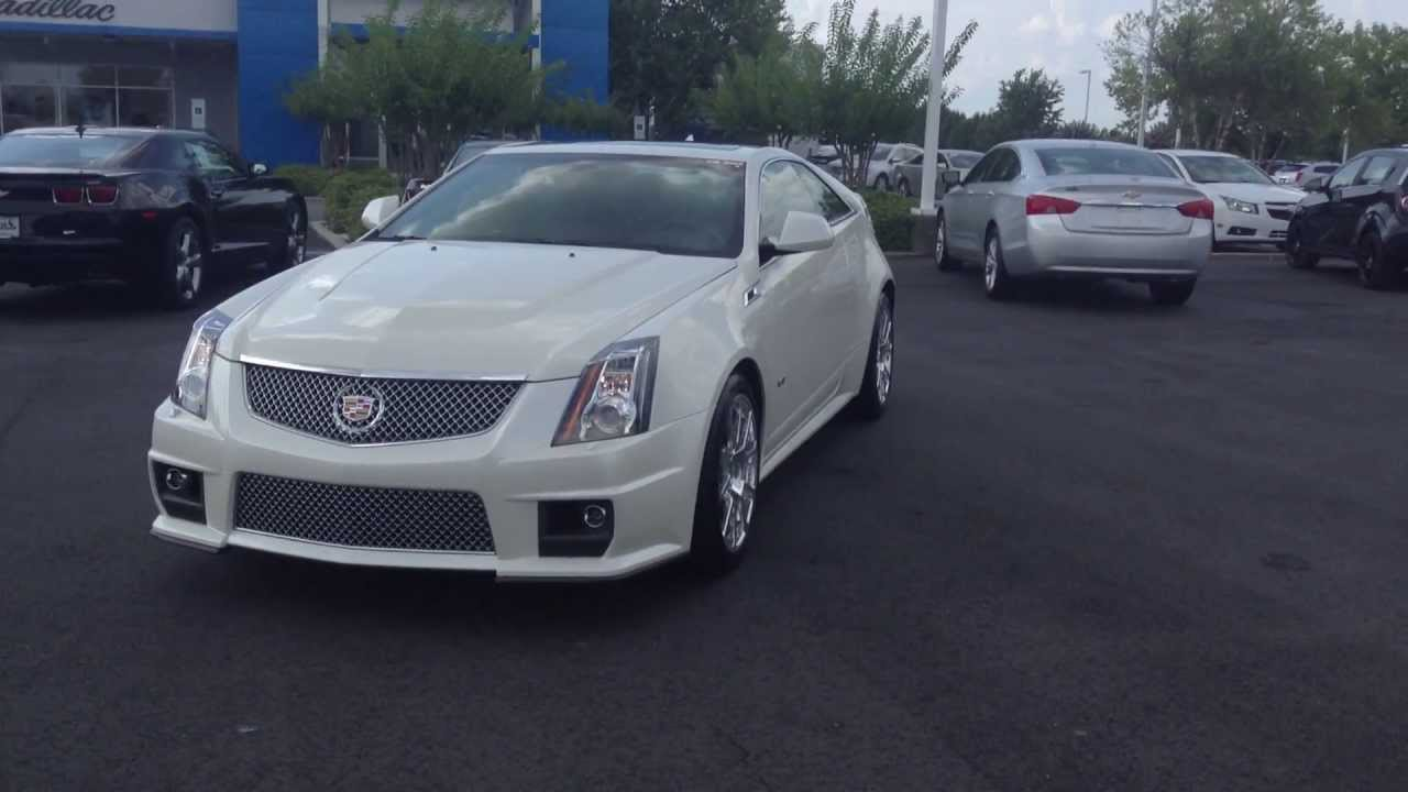 2014 Cadillac CTS Coupe V Series Diamond White, Burns Cadillac Chevrolet  Rock Hill SC
