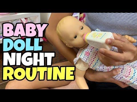 Baby Doll Night Routine - American Girl Doll Bitty Baby