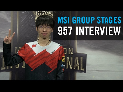 WE 957 on his performance at MSI and what the team hopes to achieve