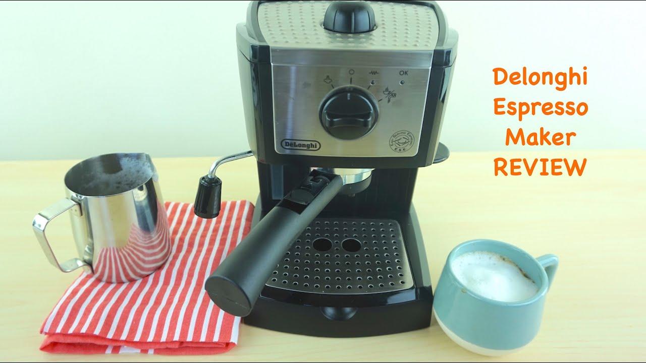 Delonghi EC155 Pump Espresso and Cappuccino Maker Review - YouTube