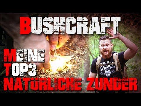 Meine Top 3 Natürliche Zunder - Bushcraft Deutschland (german/deutsch)